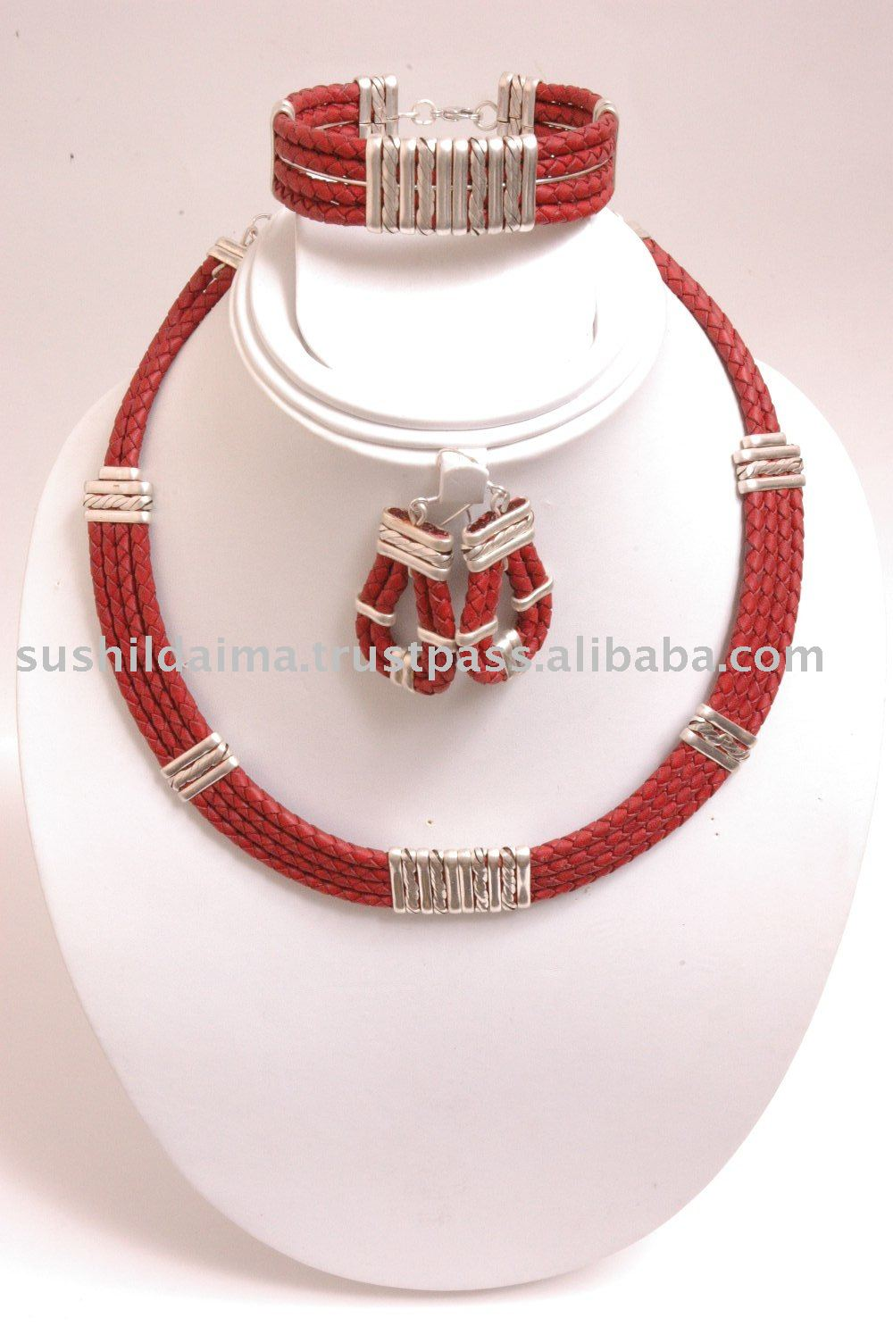 Bolo Leather Cord Jewellery Set