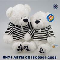 Yangzhou professional toys soft plush teddy bear with T-shirt
