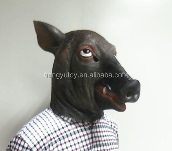 Adult Size Realistic Sex Pig Mask Halloween Coslplay Animal Head Costume & Adult Size Realistic Sex Pig Mask Halloween Coslplay Animal Head ...