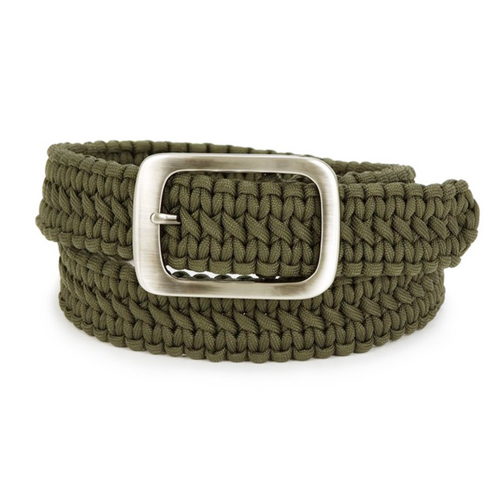 Camping Backpack Tactical 550 Paracord Survival Belt with Stainless Steel Buckle
