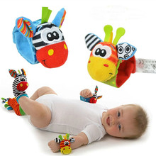 Free Shipping 1PC Hot New Fashion Infant Baby Kids Sock And Wrist Rattles Cute Intellectual Developmental Soft Toys Y848/Y849-B