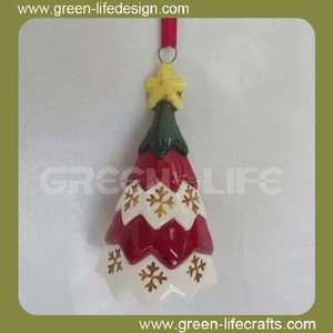 Led coloful ceramic Christmas tree ornament hooks