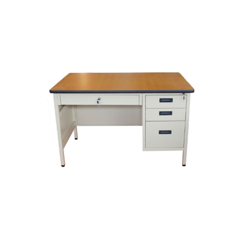 Modern modular office furniture metal person workstation computer desk with locking drawers