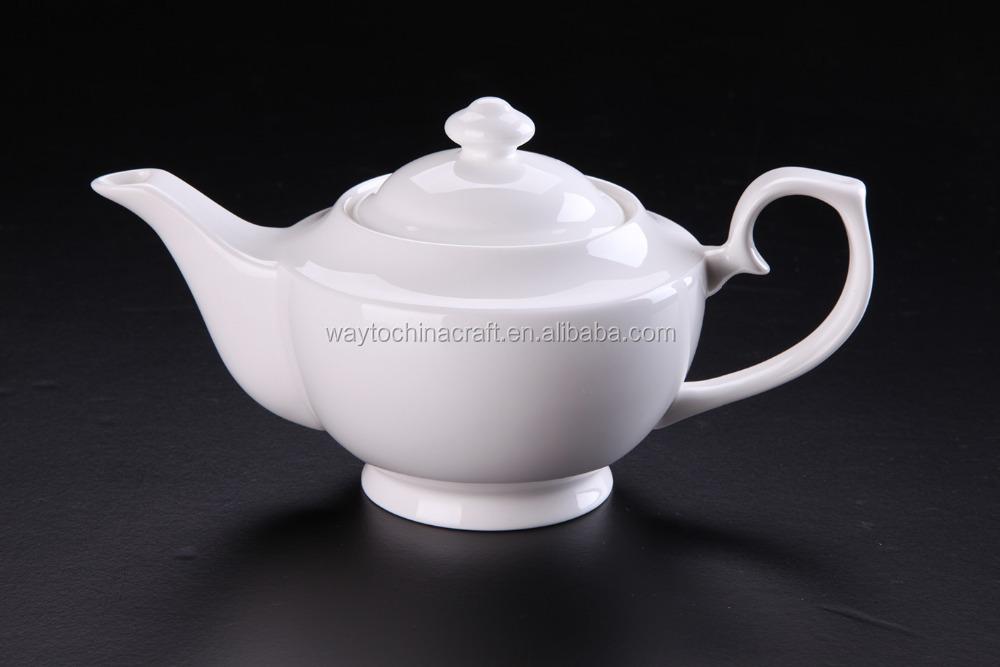865ml White Porcelain Modern Design Teapot Buy Modern