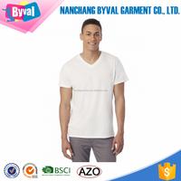 100%Cotton Mens T shirt White Blank T shirt Wholesale In China Garment