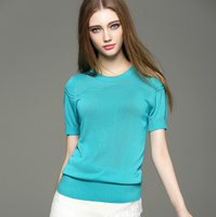 MS81381N2016 Wholesale 2016Spring Summer Womens European Short Sleeve Pullover Knitted Sweater