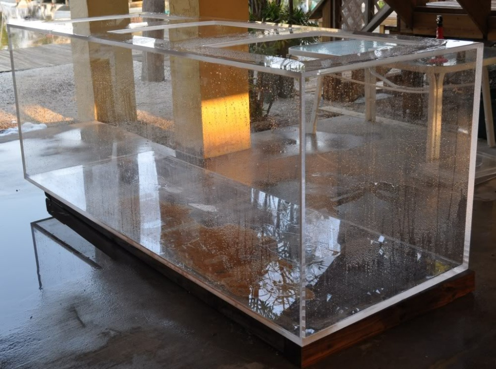 Large Transparent Cube Acrylic Aquarium Fish Tank Buy Large - Acrylic aquariumfish tank clear round coffee table with acrylic