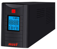 lcd long backup ups home use 1kva pure sine wave smart line interactive with auto-transformer voltage regulation