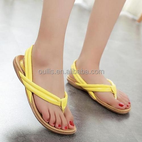 Latest Flat Footwear Nice Design Girls Fancy Sandal Shoes Pf3767 ...