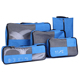 Custom packing cubes 5 pieces travel set with shoes bag