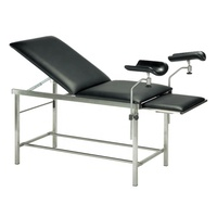 Stainless steel portable gynecological exam table in hospital clinic obstetric examination bed