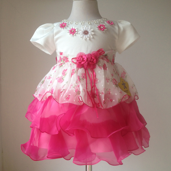 Wholesale Baby Girls Party Dresses Infant Toddler Girls Clothing