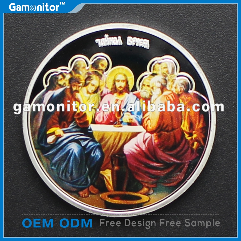 Famous Oil Painting On the Coins Silver Plated Jesus Art Collection Artist Da Vinci The Last Supper 2013 Niue dollar Coins