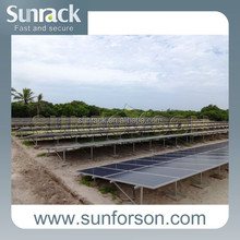 solar pv module ground mounting systems for 200kw power plant