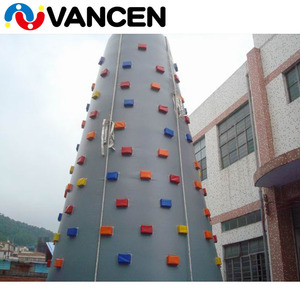 Guangzhou Vancen inflatable climbing wall for amusement park customized logo climbing holds speed inflatable climbing tower