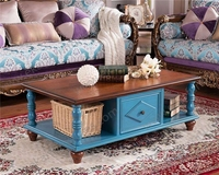 Antique Tea Table With Drawers, Low Table