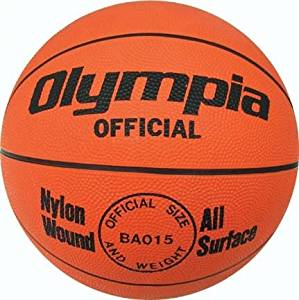 Men's Orange Rubber Basketball from Olympia (Set of 4)