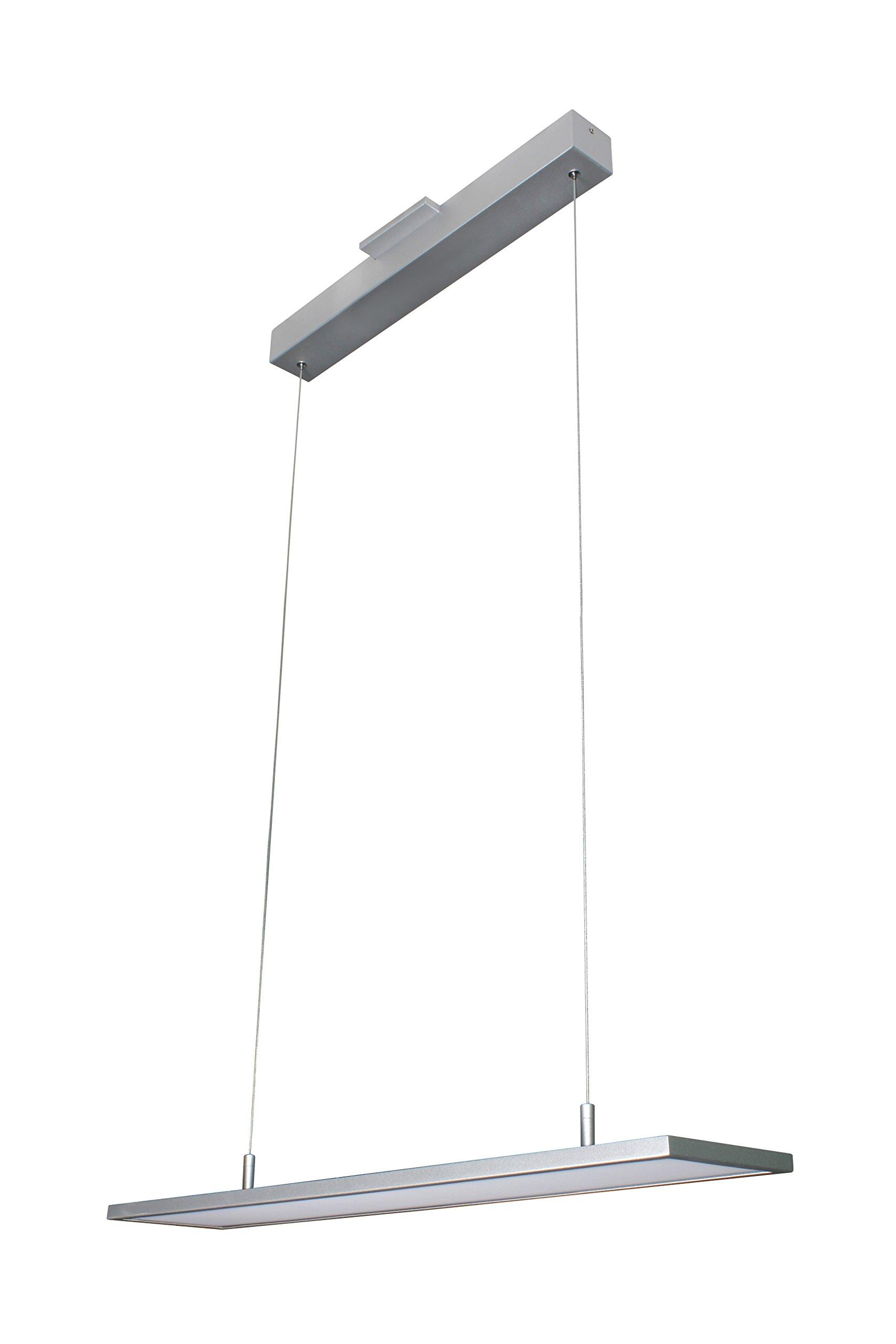 VONN VMC31610AL Modern Linear LED Chandelier Lighting with Adjustable Hanging Light, Silver
