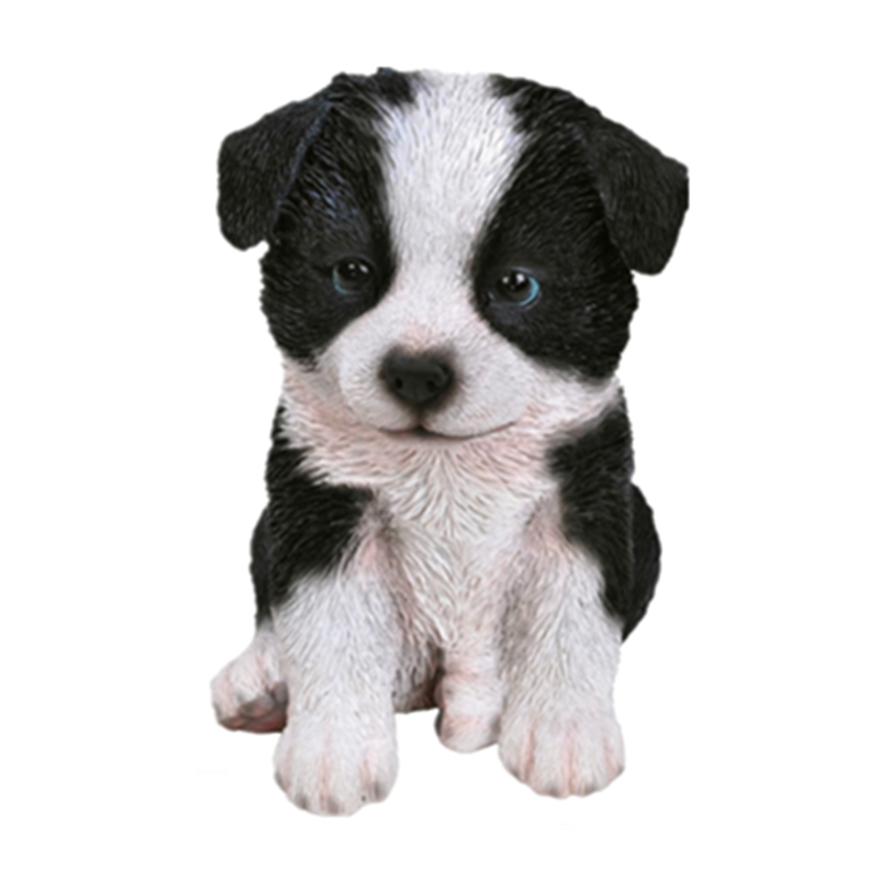 Polyresin Realistic Border Collie Puppy