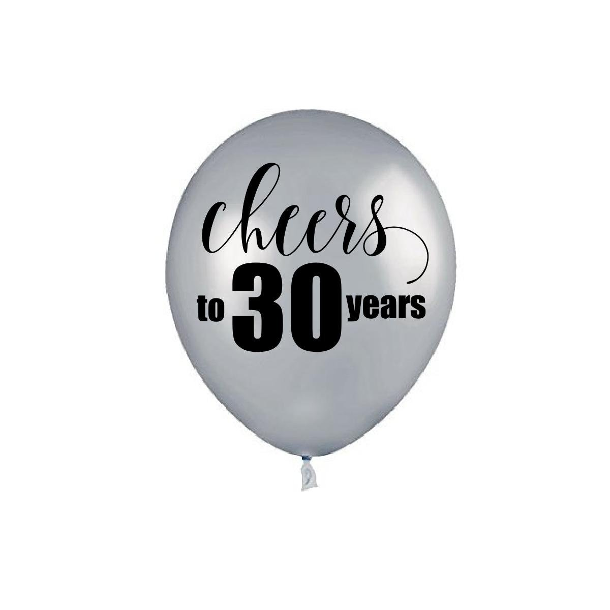 Get Quotations Silver Cheers To 30 Years 30th Birthday Balloons Party Decorations
