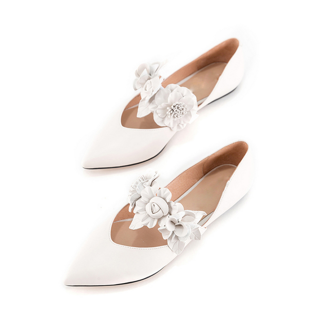 Jane lady's 3D Mary skin flower fairy shoes shoes flat wqzzUpXxPE