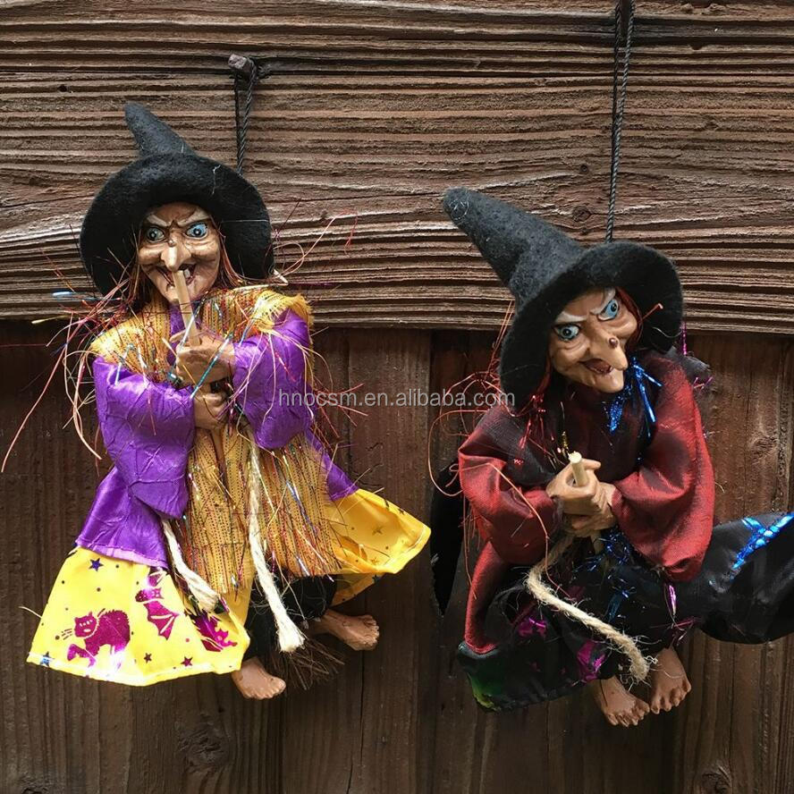 Halloween Witch Ghost Props Home Party Decor Hanging Witch