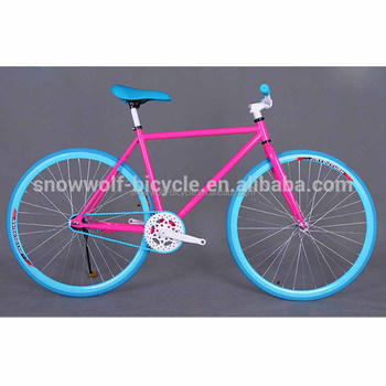 Orange Color Fixie With Five Spoke Colorful Fixed Gear Bikes Made In China Bicicletas Fixie China Fixie Buy Aero Fixed Gear Bike Fixed Gear Bike