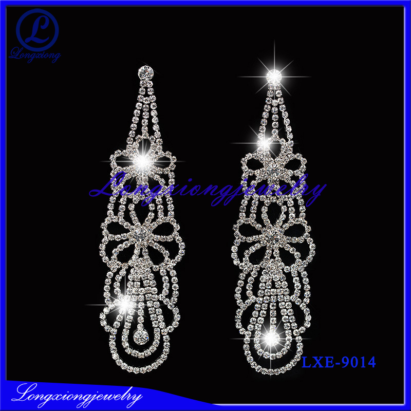 New Product 2017 Wedding,Gift,Party,Engagement Occasion Crystal Fashion Earrings
