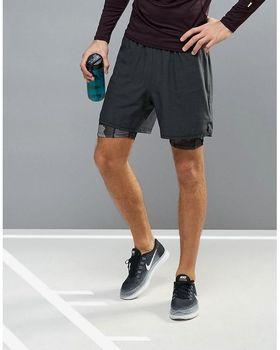 b5542e7896f4 Custom mens sports running gym shorts 100%polyester double layer shorts
