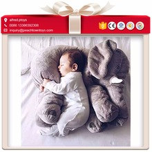 Comfortable baby sleeping elephant plush pillow