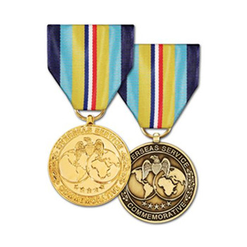 Cheap stainless steel religious medals military medal ribbon
