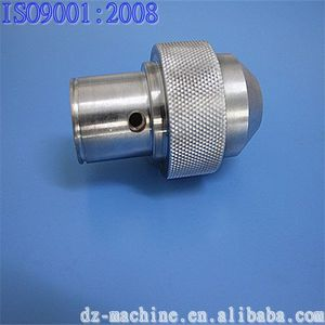 OEM CNC machined aluminum parts with knurling