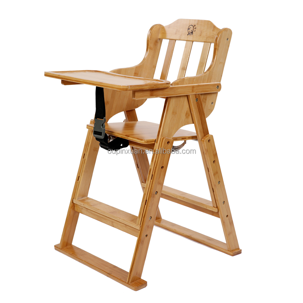 Bamboo chairs for babies - Competitive Price Safe Bamboo Baby Feeding Sitting Chair And Table Set Adjustable Foldable Baby High Chair