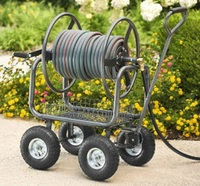 heavy duty hose reel cart 400 ft 4 wheels 5/8 inch hose
