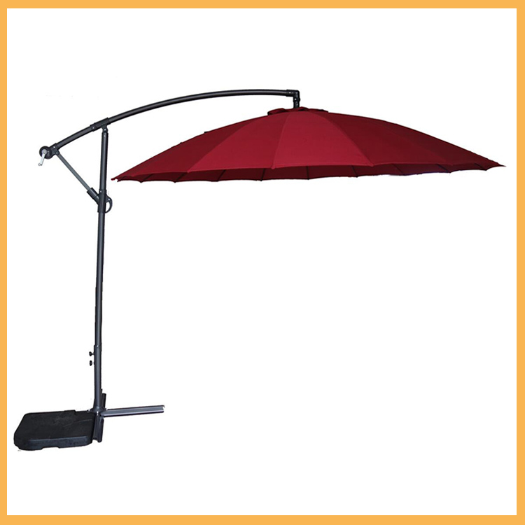 Deluxe Patio Umbrella Outdoor Market Parasol Banana Hanging Offset Sunshade Coffee and many other colors umbrella