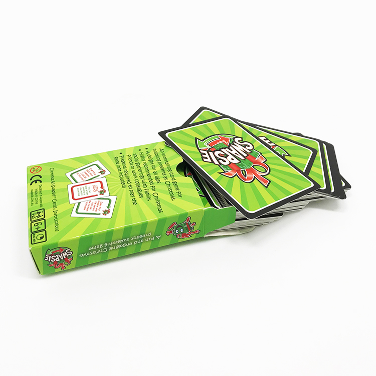 Advertising cartoon gifts laminated playing cards colors