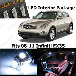 Classy Autos Infiniti EX35 White Interior LED Package (8 Pieces) by Classy Autos