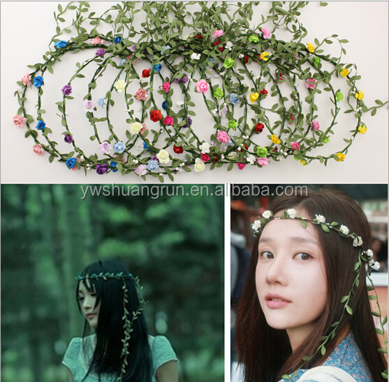 Bridesmaid Floral Crown Boho Photograph Decoration Hair Jewelry Flower Wedding Headband