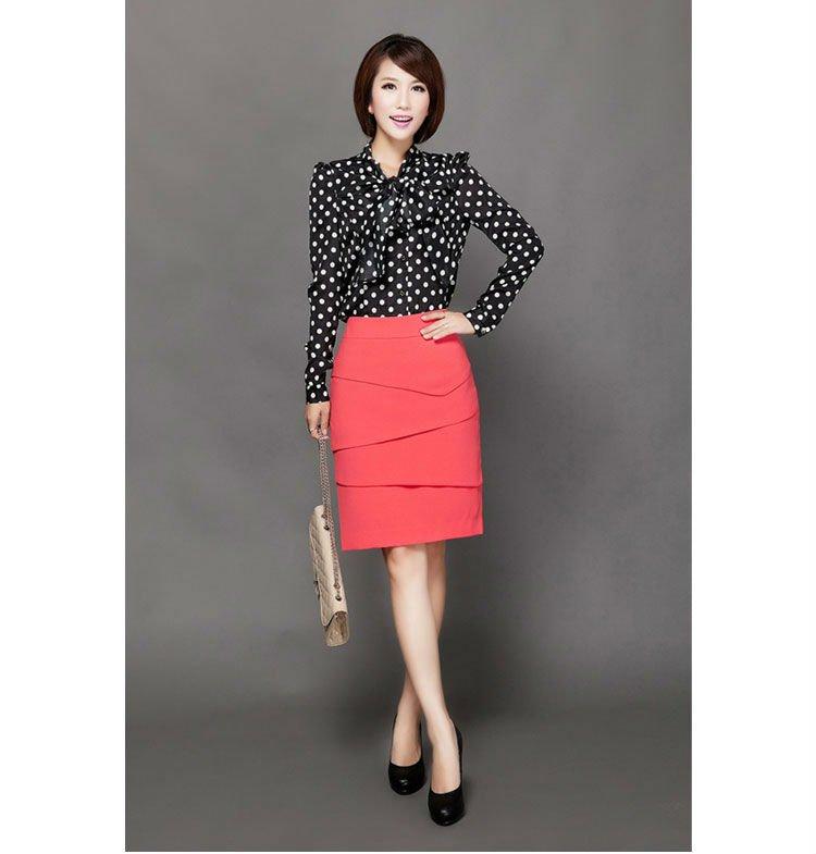 Office Lady Black Pencil Skirt Formal Mini Dress Red Peplum Buy