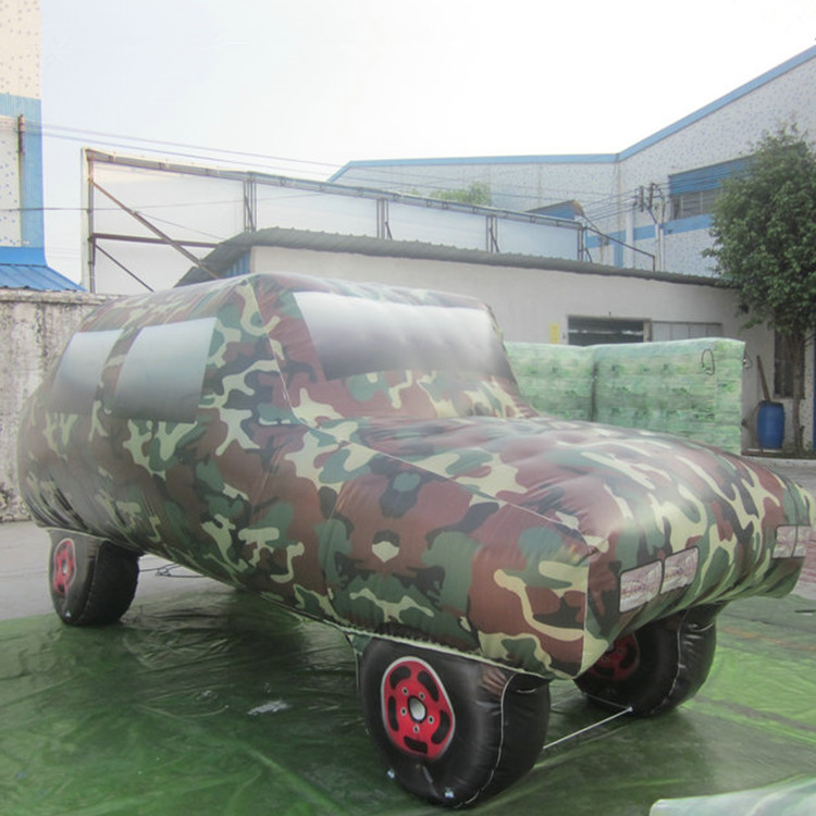The camouflage inflatable car bouncer paintball obstacle inflatable bunkers paintball for rental