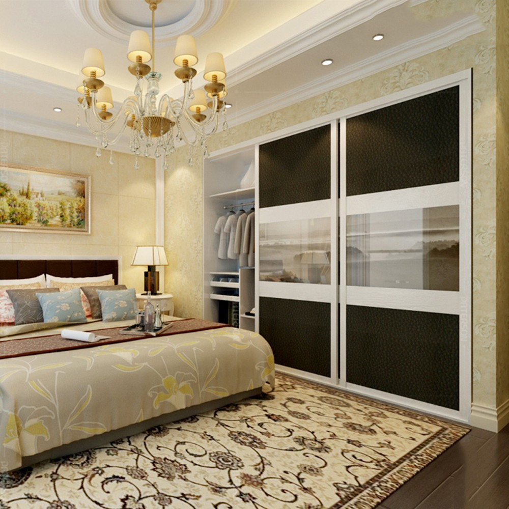 Cheap Bedroom Design Ideas Sliding Door Wardrobes: Custom Made Solid Wood Sliding Door Closet Hotel Furniture