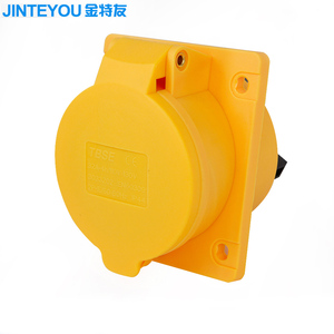 32A 3poles 110-130V 4h inclined type industrial socket with electric socket plug cover