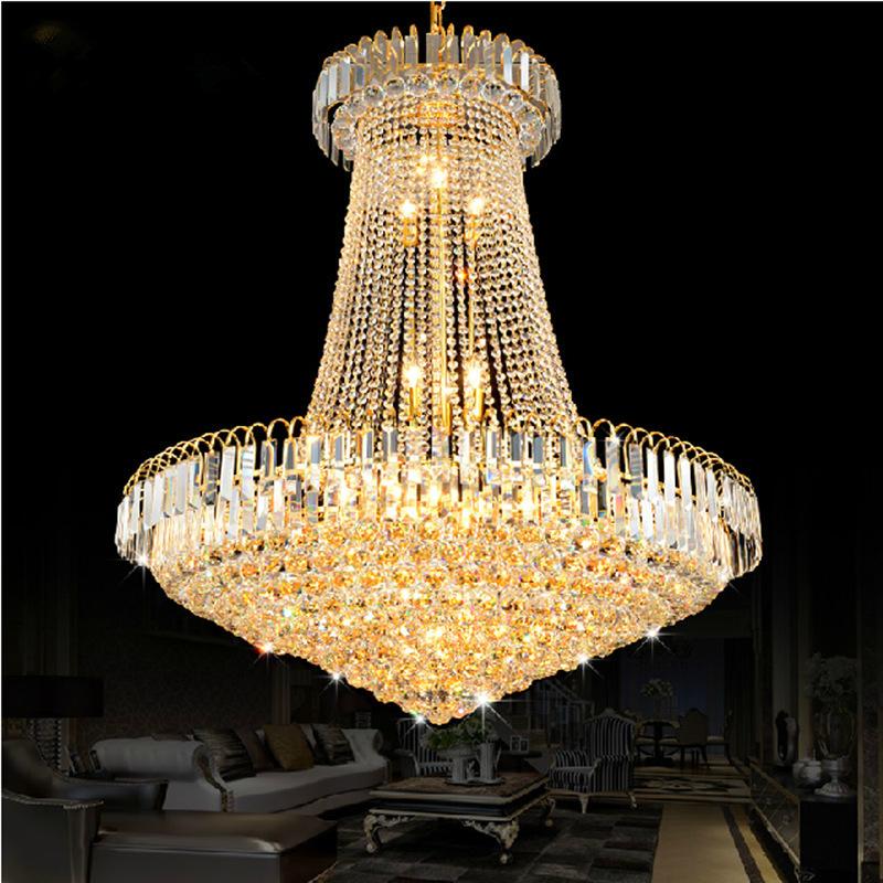 buy crystal chandelier lustres de cristais lustre cristal d40 d60 d80 stair. Black Bedroom Furniture Sets. Home Design Ideas