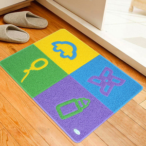 cheap price unique butterfly PVC customized picture and logo door entrance floor mat