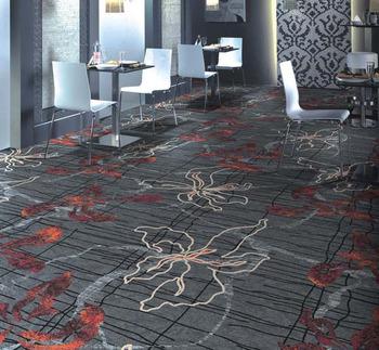 Fireproof Commercial Carpet Roll Nylon Printed Carpet For