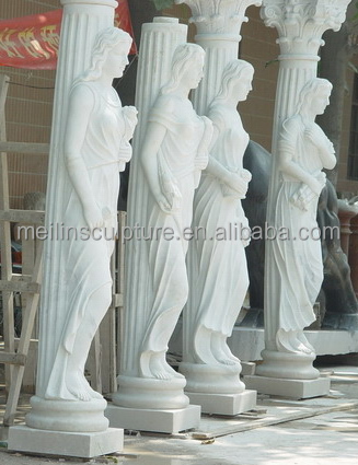 white marble carved four women column