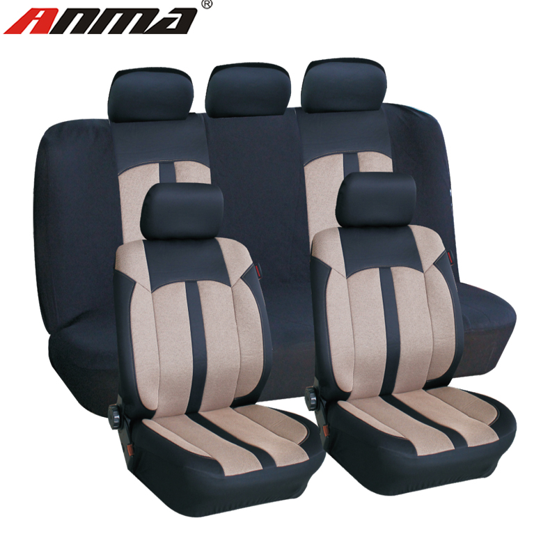 9pcs polyester auto seat covers breathable fancy car seat cover
