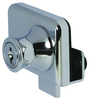 high quality bright chrome glass door clamp/Glass door showcase sliding key lock
