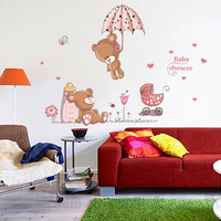 High quality removable 3d cartoon baby wall stickers