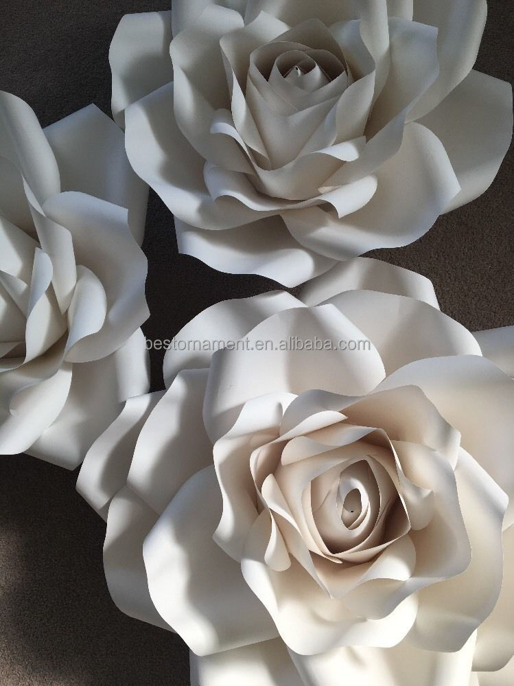 Giant Large Paper Rose Flower Wall For Weddings Birthdays Showers